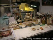 Emily Hart painting table
